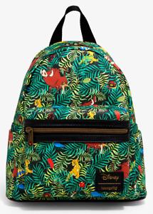 Loungefly Disney Lion King Jungle Bugs Simba Pumbaa Timon Mini Bag Backpack NEW
