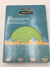 Fiskars 8 piece Embossing Texture Plate Set Spring Summer Fall Winter