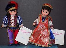 NMIB 1994 MADAME ALEXANDER 8 INCH ROMEO AND JULIET DOLL SET 94-6 and 94-7