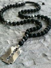 Handgefertigt Modeschmuck-Halsketten & -Anhänger aus Edelstahl mit Hämatit