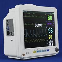 """12"""" TFT Vet Veterinary Patient Monitor Vital Signs NIBP SPO2 ECG TEMP RESP PR"""