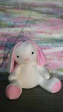 Pink White Bunny Rabbit Microbeads Pillow Plush moshi style toy Micro beads baby