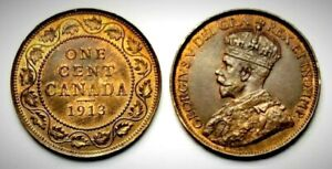 Canada 1913 Large Cent (INV0510) MS-62 Red & Brown!!