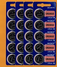 CR2032 SONY Lithium Battery 3V (pack 20 pcs) Expire Date 2024 Brand New Fresh