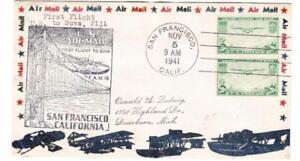 Sc#C21(pair)-SAN FRANCISCO NOV/5/1941-TRANSPACIFIC CLIPPER-FIRST FLIGHT-TO