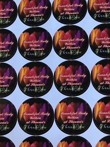 Personalised High Gloss Stickers Sheet Of 24 1.4 Inch Diameter same Day Dispatch