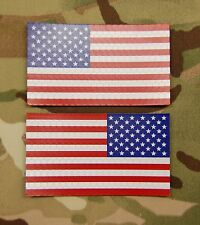 SOLAS Reflective US Flag Set Full Color USCG US Navy Army SeaBee