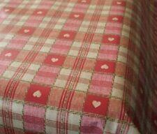 New Karina Home Sweetheart Check RED PVC Vinyl Oilcloth Tablecloth 200 x 137cm
