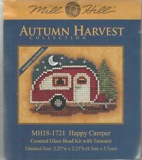 Happy Camper Trailer Glass Bead Kit & Treasure by Mill Hill w/ Magnet