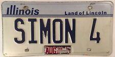 IL vanity SIMON 4 license plate Simone Symon Simonson Szymon Sim Shimon Simeon