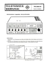 Service Manual-Anleitung für Telefunken TRX 2000