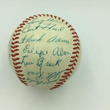 1968 All Star Game Team Signed Baseball Willie Mays Hank Aaron Mccovey JSA COA