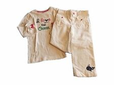 NWT Gymboree SHORE TO LOVE 5T Striped Anchor Tee /& Floral Pants