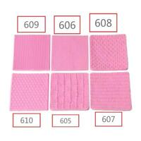 Non-toxic Silicone Pink Mold Knitting Fondant Texture Embossed Mat Baking Mold