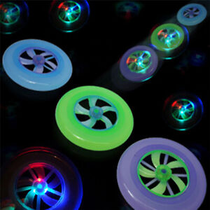 Frisbee Scheibe Wurfscheibe mit LED Licht Spielzeug Outdoor in vers. Farben