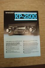 Pioneer KP-2500 Car Stereo  Cassette tape with FM radio  Original Catalogue