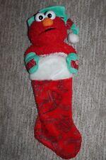 ELMO Talking Singing Plush Christmas Stocking Sesame Street Workshop Holiday
