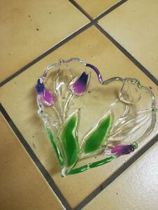 Herz Glas Schale