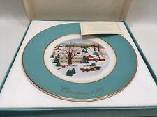 "Vintage Avon Christmas Plate ""Christmas on the Farm"" 1973-New in Box!"
