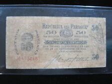 PARAGUAY 50 CENTAVOS 1894 P87 SCARCE 28# BANK CURRENCY BANKNOTE PAPER MONEY