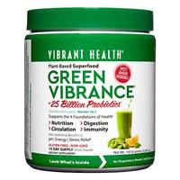 Vibrant Health, Probiotics Green Vibrance, Plant-Based Superfood Powder, 25 Per