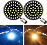 """Eagle Lights Black 2"""" Front LED Turn Signals with White Running Light DRL Harley"""