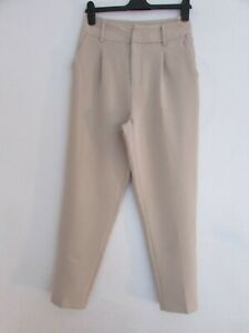 NEW STONE SIZE 10 HIGH WAIST TAPERED TROUSERS QUIZ 27'' LEG
