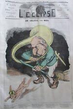 EN CHASSE CARICATURE NAPOLÉON III JOURNAL SATIRIQUE L'ECLIPSE N° 200 de 1872