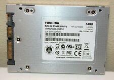 "Toshiba Solid State Drive - 64GB - THNSFC064GBSJ - 2.5"" - USED"