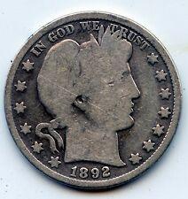 1892-p Barber half (SEE PROMO)