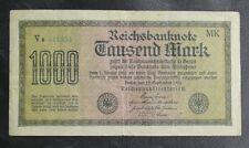 BILLET D'ALLEMAGNE : 1922 REICHSBANKNOTE 1000 TAUSEND MARK - EN BON ETAT