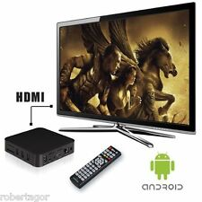 ANDROID BOX PC DESKTOP PER TV PLASMA LED HDMI USB DUAL CORE A9 GPU MALI 400