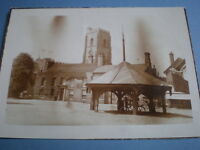 Old photograph market square Mildenhall c1920s