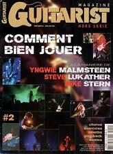 """GUITARIST & BASS #HS4 """"Comment bien jouer:Malmsteen,Lukather,Stern"""" (revue)"""