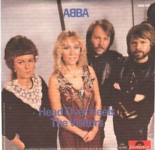"""ABBA  Head Over Heels & The Visitors PICTURE SLEEVE 7"""" 45 NEW + juke box strip"""