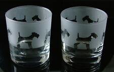More details for fox terrier dog gift whisky glasses...boxed