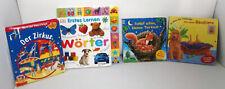 4Tolle Kinderbücher mit verwandel-schieber,abwaschbaren Seiten,Klappseiten 1-4