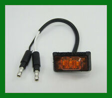"""Maxxima 3/4 X1.5"""" Side Marker Clearance 3 LED Amber light Adhesive Surface Mount"""