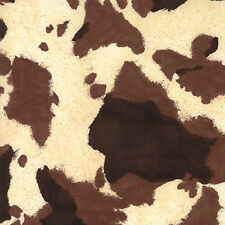 RAWHIDE~WESTERN BASICS~MODA~BROWN TAN COWHIDE COTTON PRINT~BY 1/2 YD~11217-21
