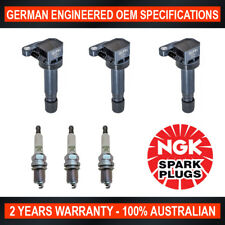 3x Genuine NGK Spark Plugs & 3x Ignition Coils for Daihatsu Charade L251