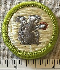 Boy Scouts MAMMAL STUDY Merit Badge PATCH PLASTIC BACK Scout Insignia BSA