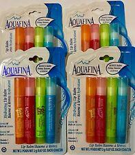 Aquafina Flavor Splash Hydrating Lip Balm 4 Pack  Jojoba & Almond Oil Lot of 4