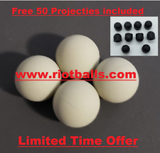 Paintballs .68 Cal 12 Grams Self Defense Rubber Steel Solid Balls Glass Beaker