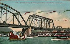 Old Postcard - Water Carnival - Healdsburg CA - Northwestern Pacific R.R.