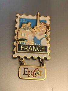 Disney Pin: EPCOT Stamp Pin Series #9 - France (Belle)