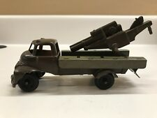 Vintage Banner Toys - Army Truck - Plastic and Tin - 1950's Rare