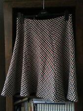 Knee Length Wool Checked Flippy, Full Skirts for Women