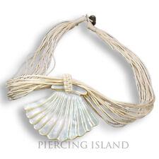 Muschel Halskette Kette mit Muschelanhänger Maori Perlmutt Design N166