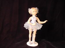 Porcelain Ballerina Doll W/ Stand - Blue Dance - Gift