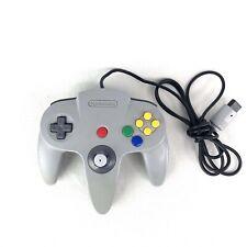 Nintendo 64 N64 Gray Controller OEM Genuine Authentic